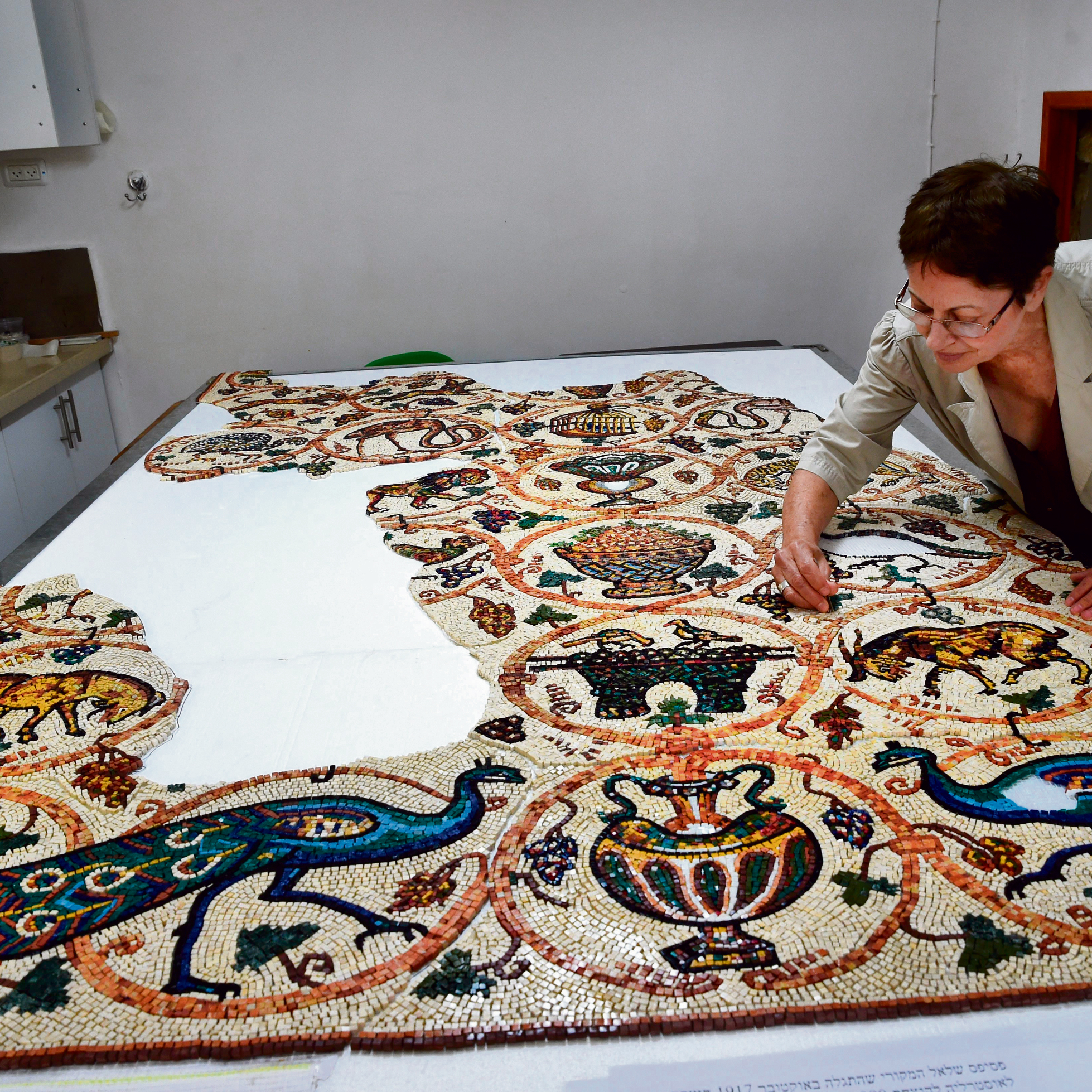 Artist Yardena Visoker presided over a project recreation a mosaic removed from Israel by ANZAC troops