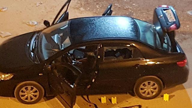 רכבו של פדילי לאחר הרצח ()