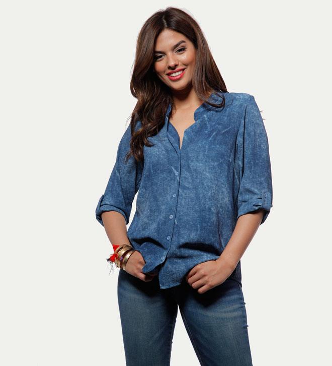חולצת מפתח ג'ינס, 99 שקל, אורלי גולן, שופינג לאשה (צילום: שופינג לאשה)