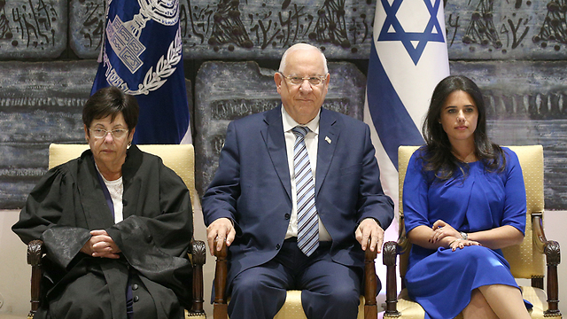 L to R: Naor, Rivlin and Shaked (Photo: Ohad Zwigenberg)