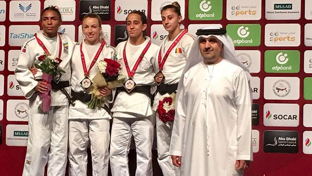 Under-52kg women's division medal ceremony. Third from the left: Gili Cohen (Photo: IJF)