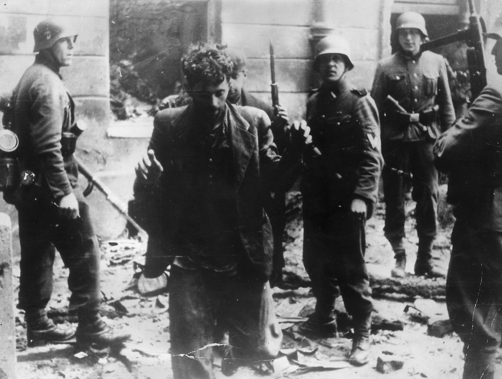 Warsaw ghetto resistance fighters, April 1943 (צילום: gettyimages)