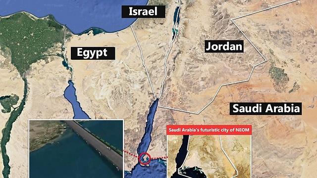 Ynetnews News Planned Bridge To Connect Saudi Arabia With Egypt - Map of egypt and saudi arabia