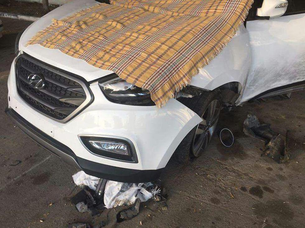 הרכב שבו אירע הפיצוץ ()
