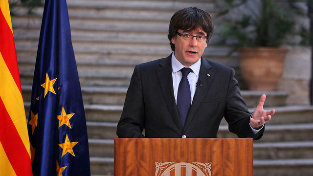 Sacked Catalan president Puigdemont called for 'democratic opposition' to Spanish central government's takeover of his region (Photo: AP)