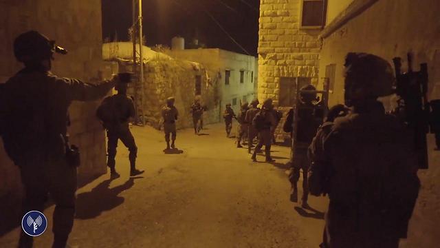 IDF operations in Qabatiya after murder (Photo: IDF Spoksperson's Unit)