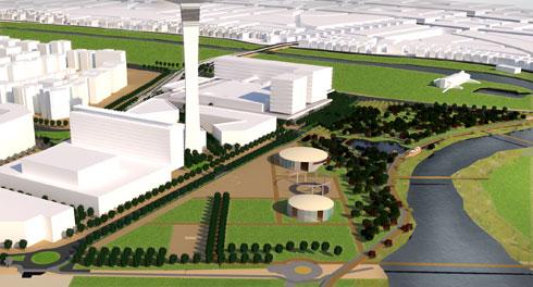 """זה יהיה הפארק של אזור בנוי חדש, שנמצא ממערב לשכונת כוכב הצפון (הדמיה: משרד גרינשטיין הר-גיל, אדריכלות נוף ותכנון סביבתי בע""""מ)"""