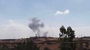 Smoke from blast