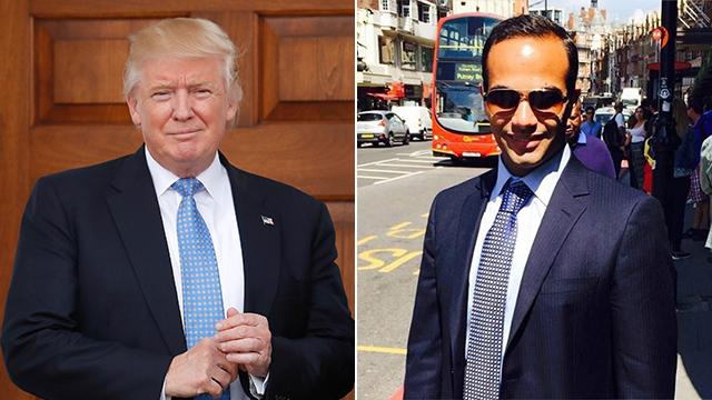 היועץ פאפאדופולוס והנשיא טראמפ (צילום: AP) (צילום: AP)