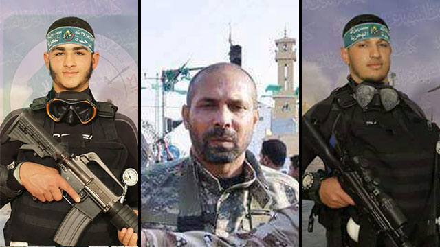 Three of the militants killed in the blast
