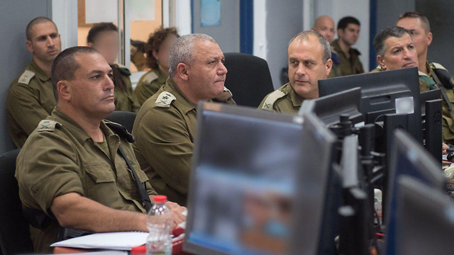 IDF Chief Eisenkot with GOC Southern Command Zamir