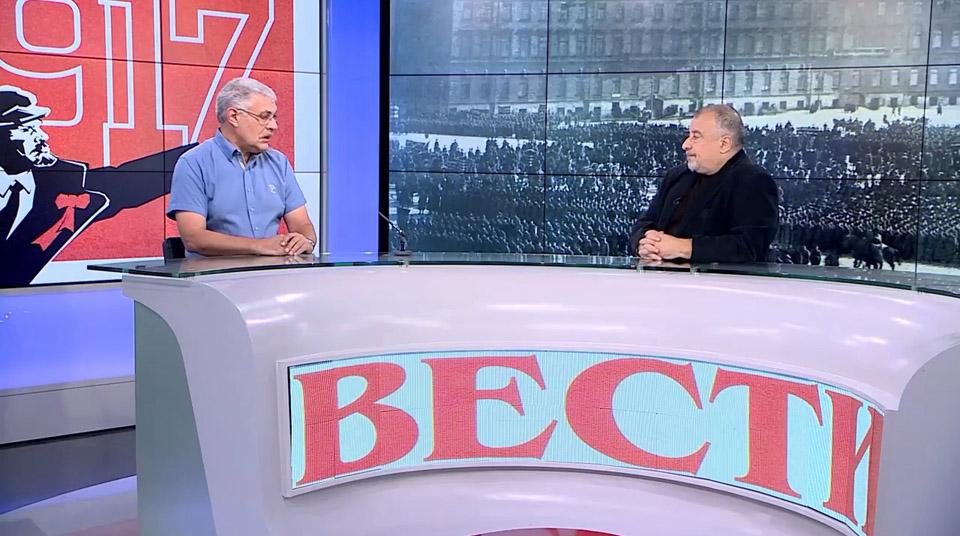 """Саша Виленский и Илья Кричевский в студии """"Вестей"""""""