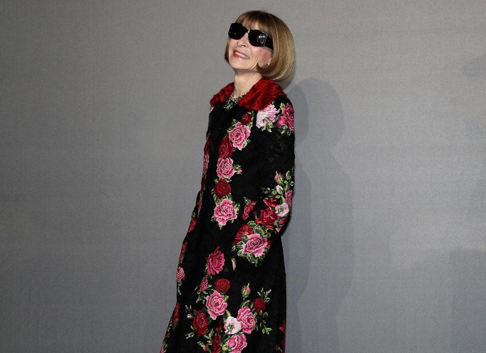 """אנה ווינטור. מי שזכתה בכבוד בתואר """"אשת הקרח של תעשיית האופנה"""" עוברת בשנים האחרונות תהליך התרככות מואץ (צילום: AP)"""