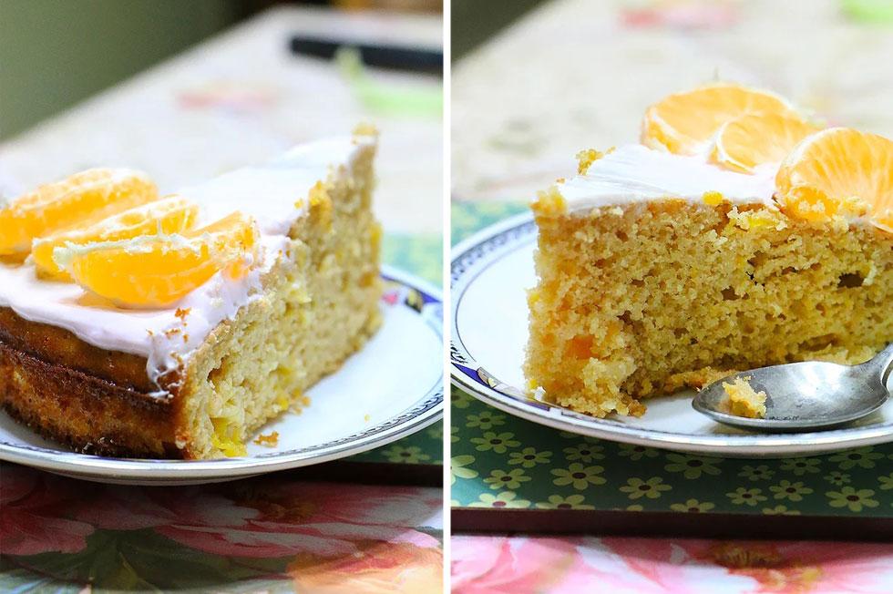 עוגת קלמנטינות עם קמח שקדים (צילום: הודליה כצמן  Bake Care)