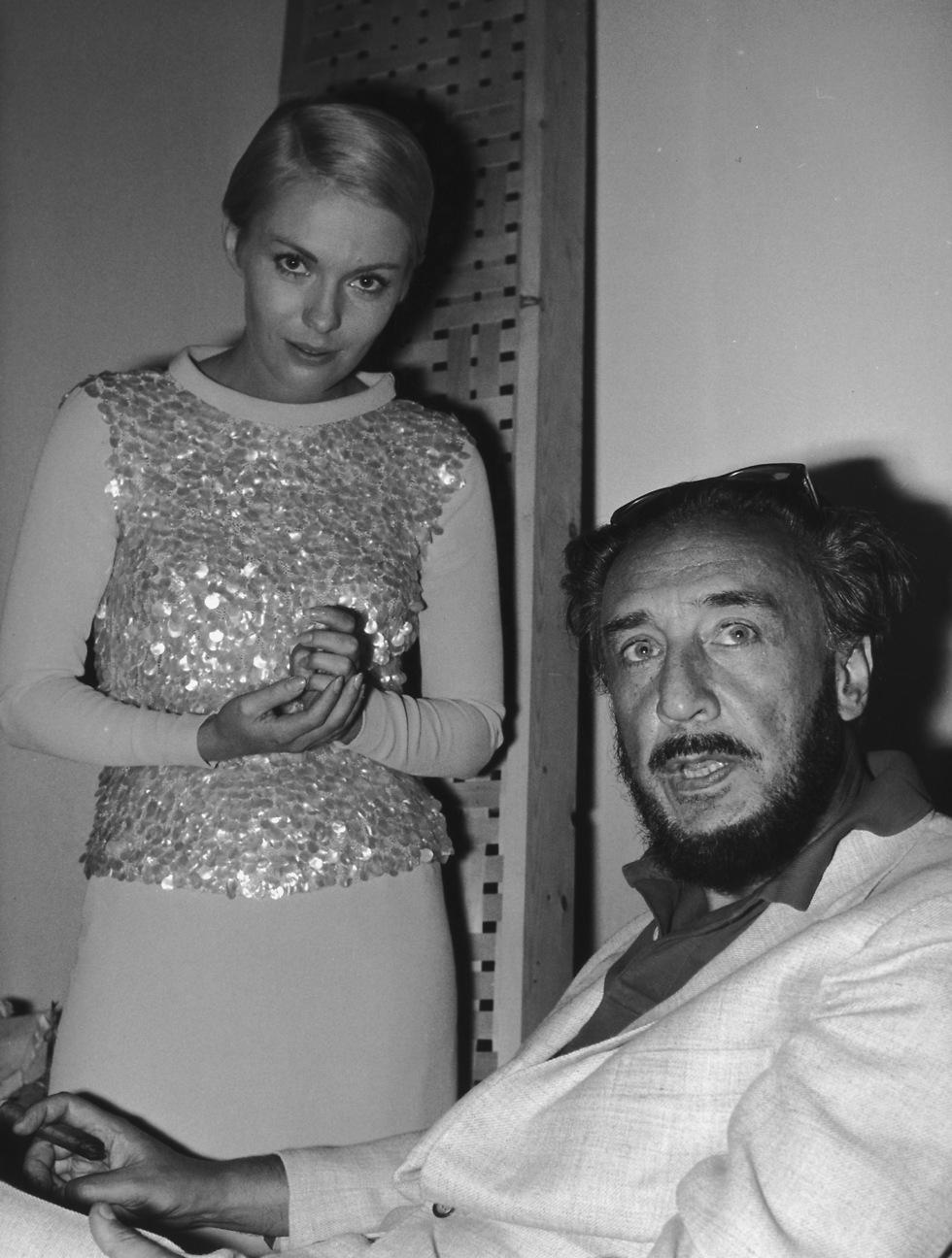 """ניסיון כושל ליצור משהו יחד. גארי וסיברג בצילומי הסרט """"ציפורים באות למות בפרו"""", 1967 (צילום: gettyimages)"""