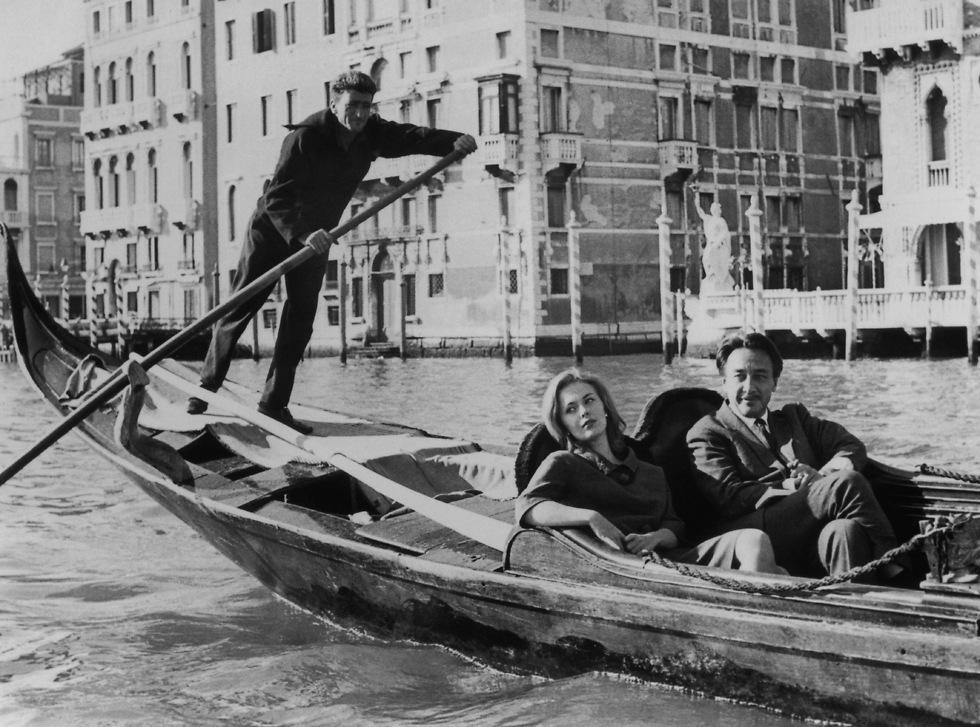 מעט מחייהם יחד היו טובים. גארי וסיברג בחופשה בוונציה, 1961 (צילום: gettyimages)