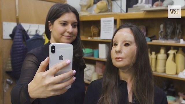 זיהוי הפנים הצליח במבחן המסיכה (צילום מסך)