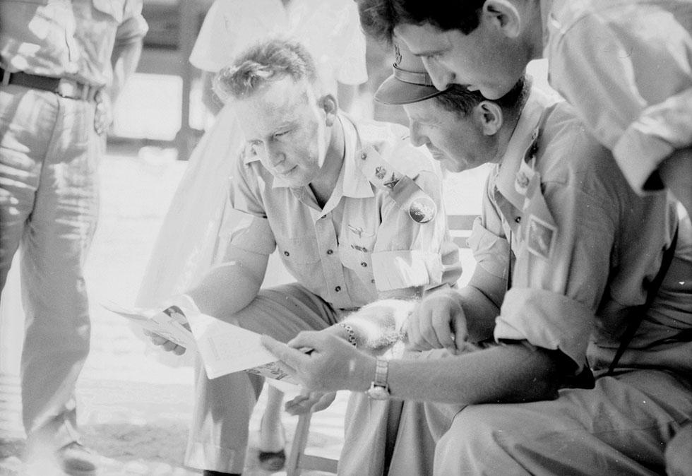 Рабин и Хаим Герцог, 1955 год