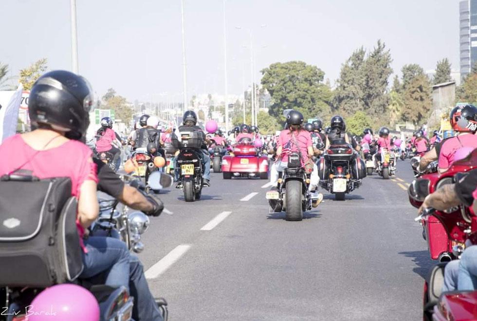 מסע האופנועים של הנשים (צילום: זיו אורן)