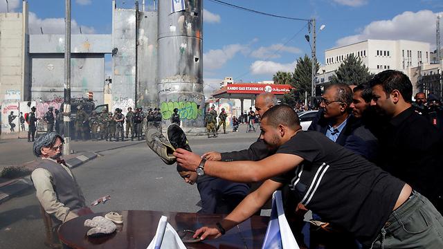 Palestinians protest in Bethlehem against the Balfour Declaration (Photo: Reuters)