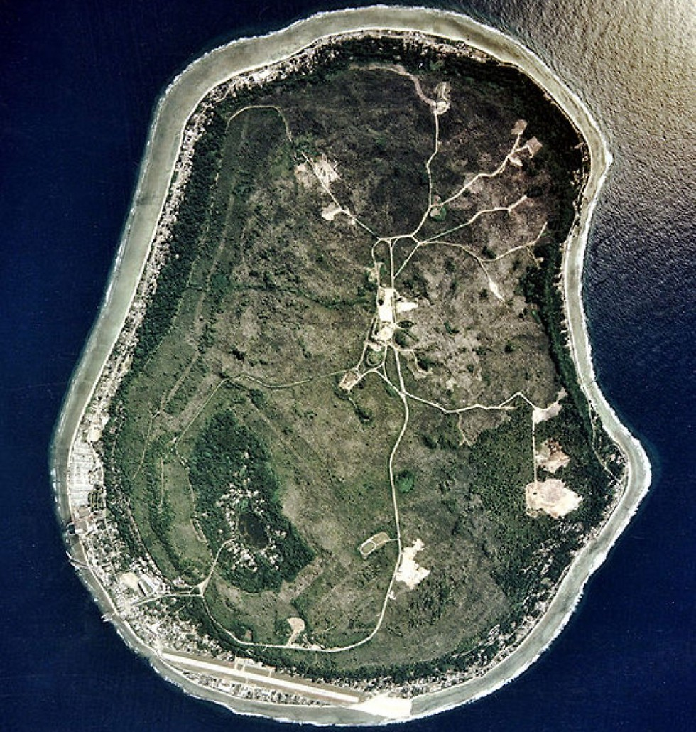 The island nation of Nauru (Photo: Satellite)