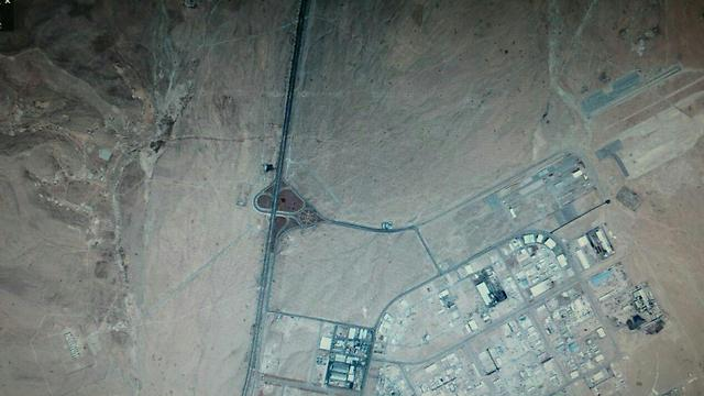 Satellite images of the area before the alleged attack