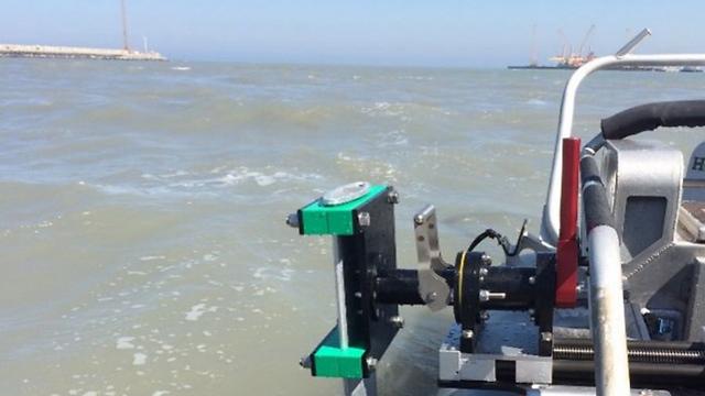 The sonar, mounted on a Wasp-class amphibious assault ship