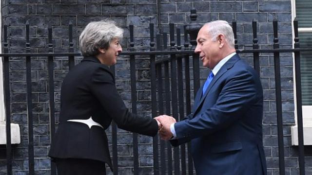 Netanyahu and May meet at 10 Downing Street (Photo: Koby Gideon/GPO)