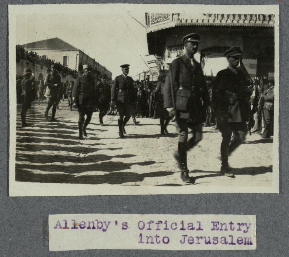 General Allenby entering Jerusalem (Photo: National Library of Israel)