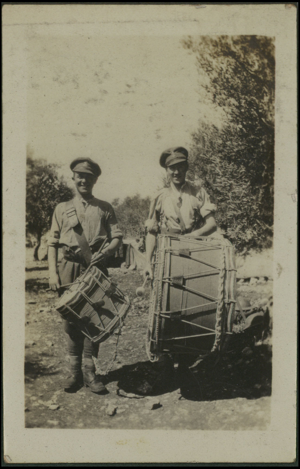 Drummers (Photo: National Library of Israel)