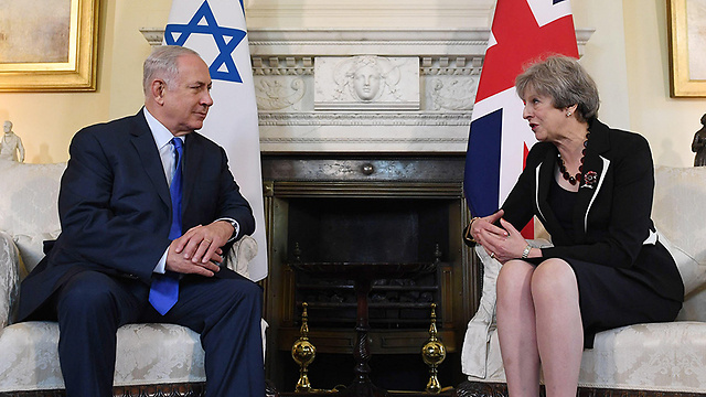 Prime Minister Netanyahu meets with British Prime Minister May in London (Photo: Getty Images)