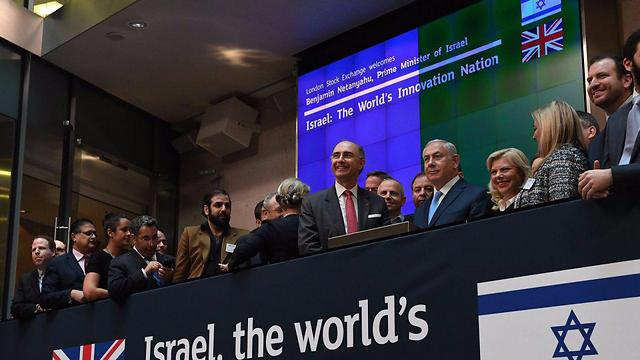 PM Netanyahu also opened trade at the London Stock Exchange
