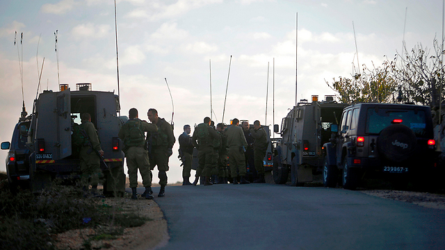 An IDF force near the Syrian border (Photo: AFP)