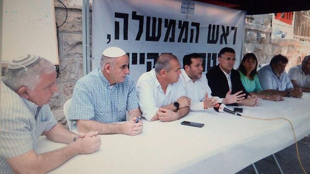 Samaria Regional Council heads protesting outside the Prime Minister's Residence (Photo: Samaria Regional Council)