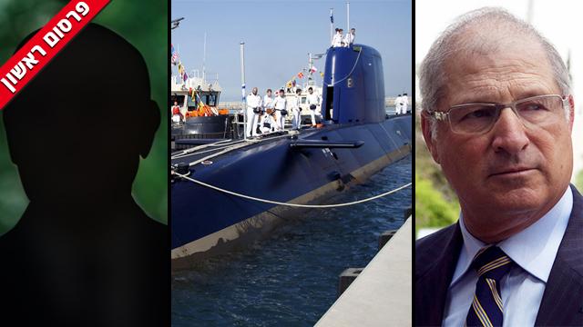 דוד שמרון והנחקר הנוסף בפרשת הצוללות (צילום: EPA) (צילום: EPA)