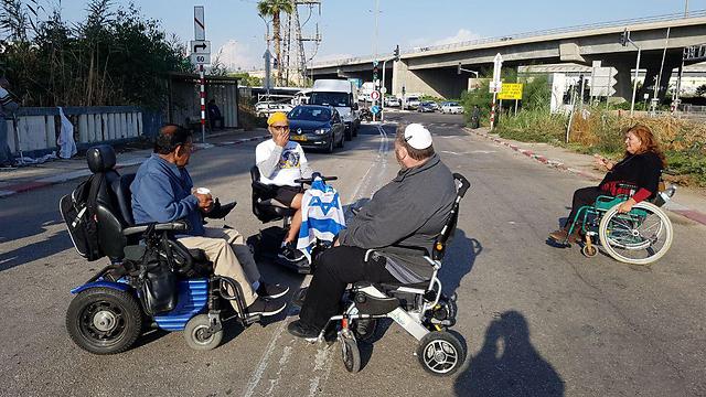 Протест инвалидов. Фото: Идо Эрез