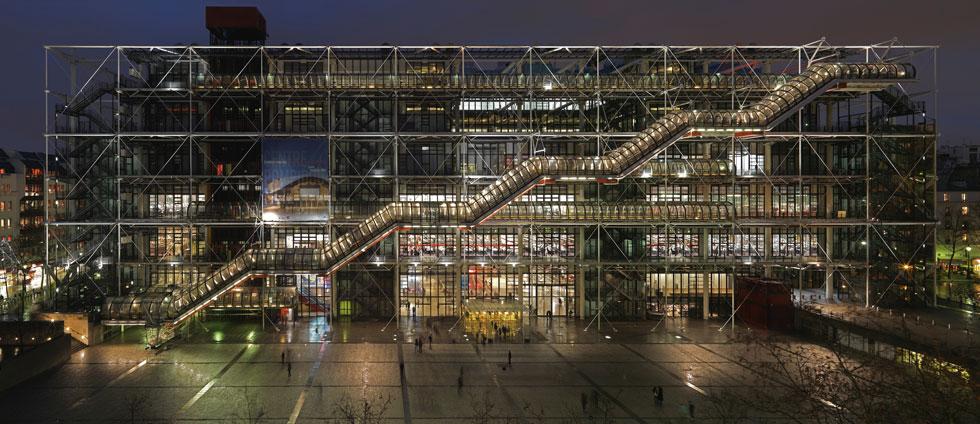 וכך הוא נראה בלילה. ''מוזיאון של הפריזאים'', מגדיר זאת נשיא מרכז פומפידו (צילום: Ph Migeat, Courtesy Centre Pompidou)