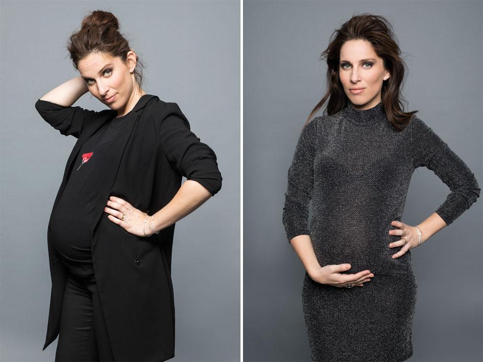 """""""נכנסתי להיריון הראשון בחודש הראשון שבו התחלתי את לימודי הרפואה. אחרי שילדתי לא עבדתי, אבל הייתי צריכה ללמוד. אני רוצה להיות הפעם לגמרי עם התינוקת. בלי שום לחץ"""" (צילום: רונן פדידה, סגנון: ליהי לוי-פדר)"""