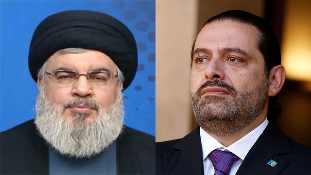 Hezbollah leader Hassan Nasrallah and Saad al-Hariri (Photo: EPA, AFP)
