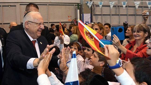 Rivlin at the ceremony (Photo: Haim Tzach, GPO)