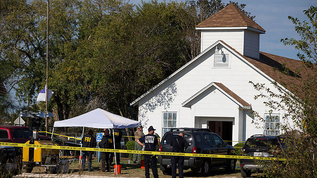 The secne of the attack, the First Baptist Church in Sutherland Springs (Photo: AP)
