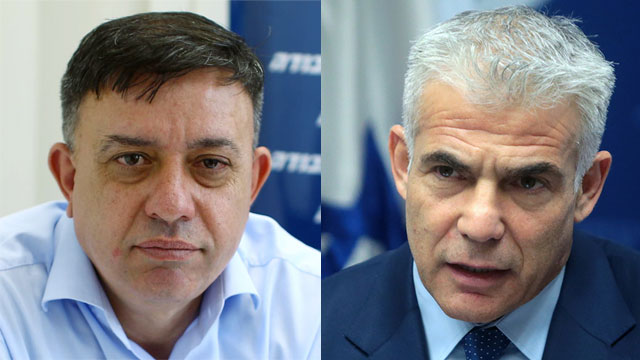 Lapid is suffering from a negative public momentum, while Gabbay keeps sliding in the polls  (Photo: Abigail Uzi and Alex Kolomoisky)