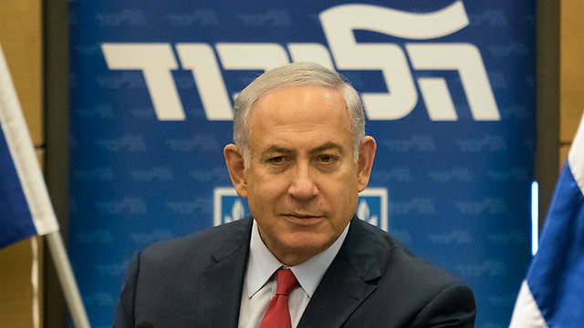 Prime Minister Benjamin Netanyahu at a Likud party meeting (Photo: Yoav Dudkevitch)