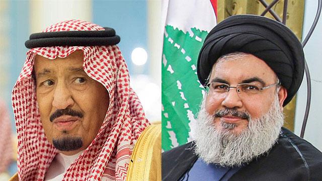 Saudi King Salman (L) and Hezbollah Secretary General Hassan Nasrallah (Photo: MCT, EPA)