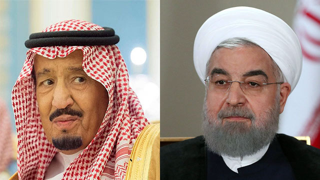King Salman (L) and President of Iran Hassan Rouhani (Photo: MCT, EPA)