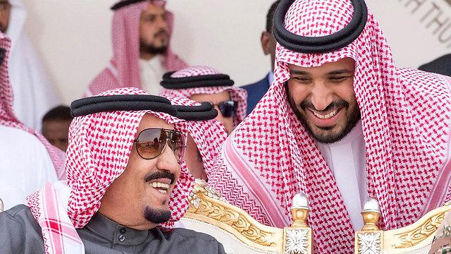 Saudi King Salman with his son, Crown Prince Mohammad bin Salman (Photo: MCT)