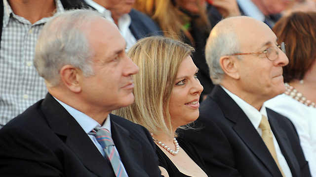 Molcho, right, with the Netanyahu couple (Photo: Moshe Milner/GPO)