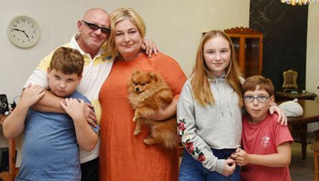 Ольга Аркель с мужем и детьми. Фото из семейного архива