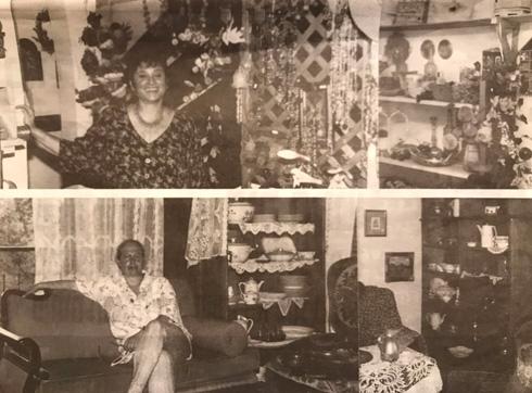 ויקי בן ציוני (למטה) בבית שתכננה להוריה. למעלה שותפתה לגלריה, אורנה רווה (צילום: באדיבות אורנה רווה)