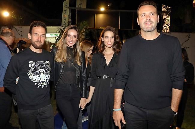 דאבל דייט. שמעון גרשון, יעל גולדמן, מלי לוי ואורי פפר (צילום: אמיר מאירי)